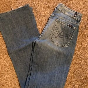 7 for all Mankind flair jeans size 27